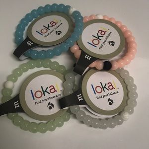 Set of 4 Glow in the dark Lokai bracelets